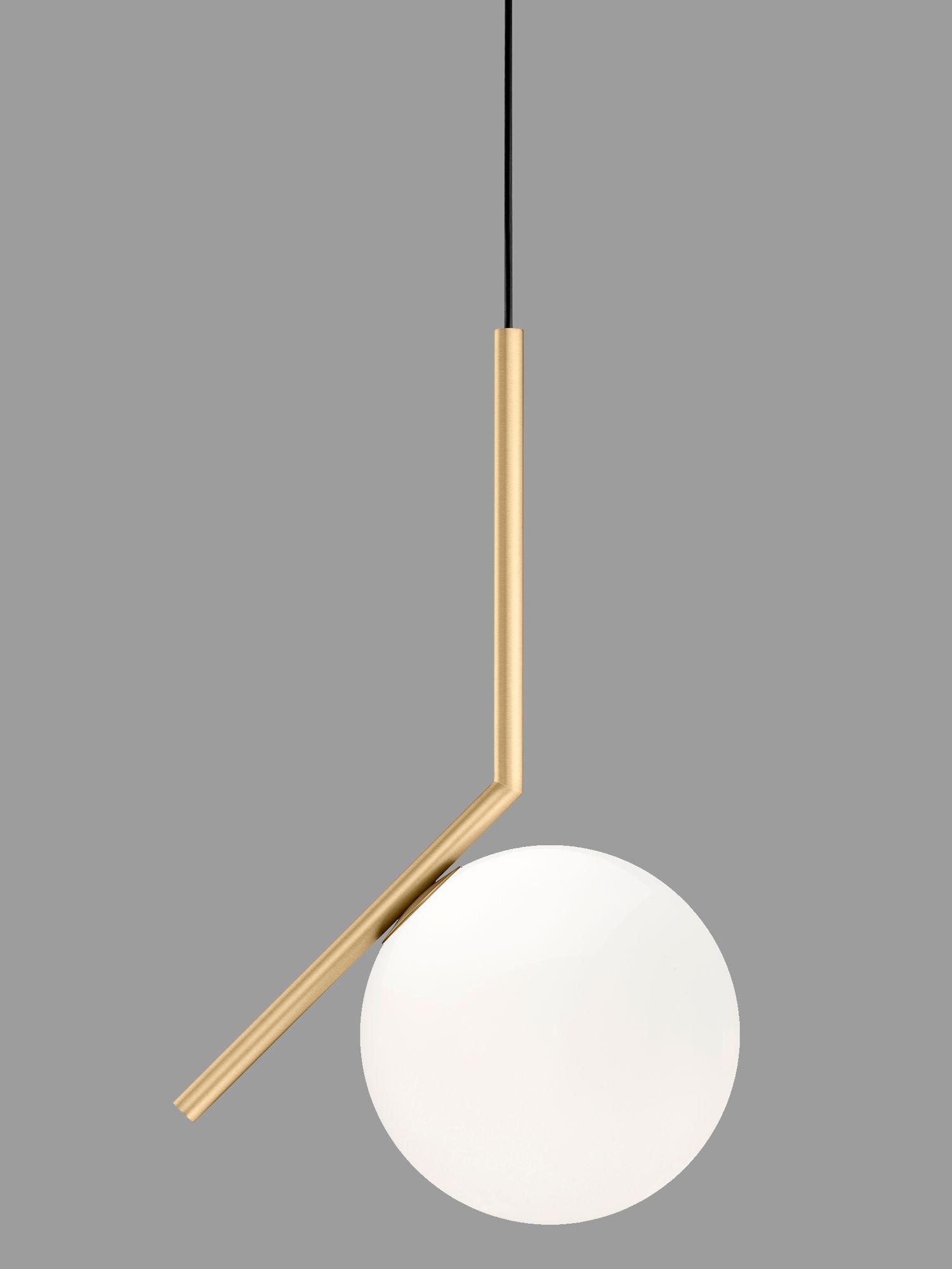 Flos Flos IC Lights 200 Pendant Light, Brushed Brass, Dia.20cm