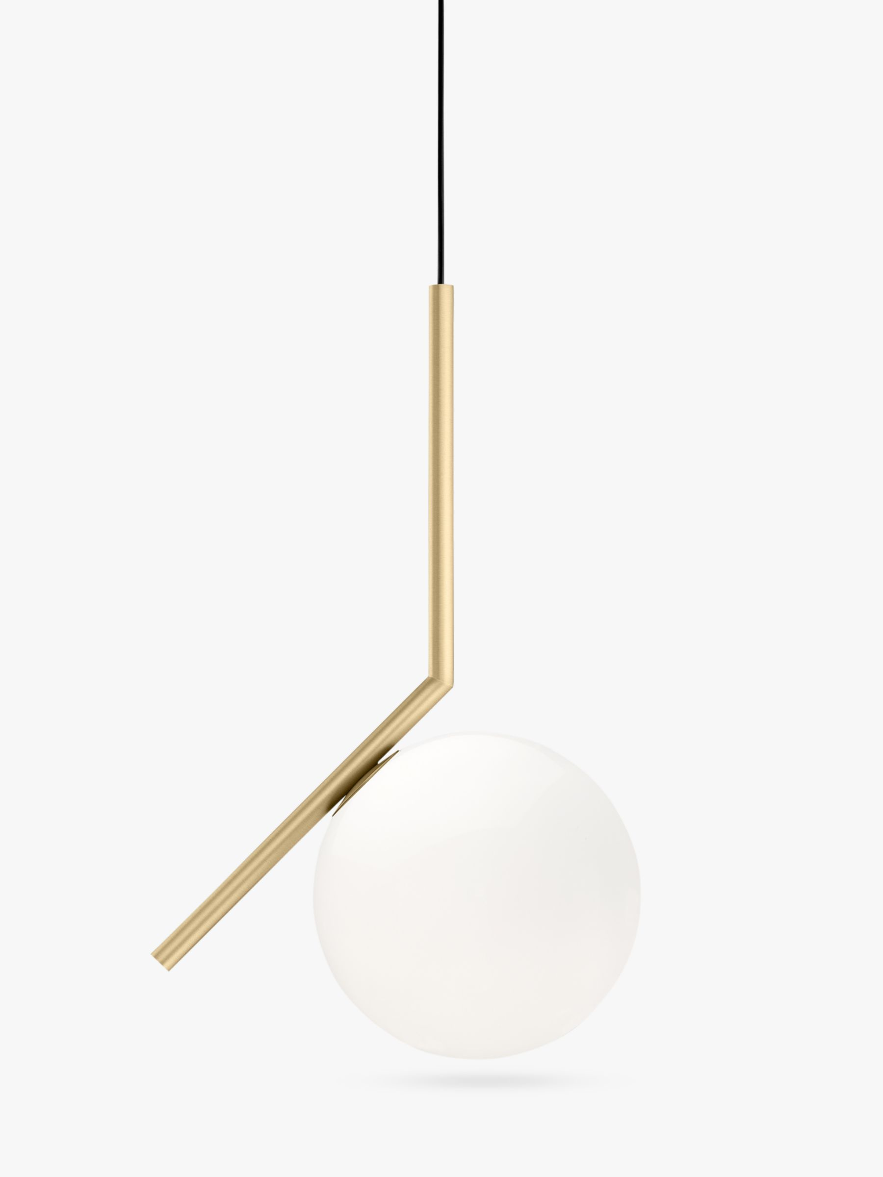 Flos Ic Lights 200 Wall Light Brushed Brass : Buy Flos IC S1 Ceiling Light, 20cm, Brushed Brass John Lewis