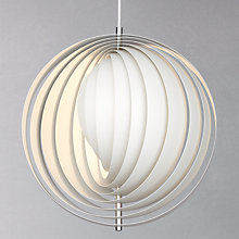 Buy Verpan Moon Pendant, White, Large Online at johnlewis.com