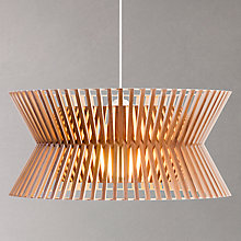Buy Secto Kontro 6000 Pendant, Walnut Online at johnlewis.com