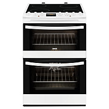Buy Zanussi ZCV68310WA Electric Cooker, White Online at johnlewis.com