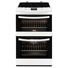 Buy Zanussi ZCV48300WA Electric Cooker, White Online at johnlewis.com