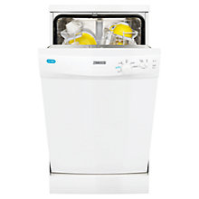 Buy Zanussi ZDS12001W Slimline Freestanding Dishwasher, White Online at johnlewis.com