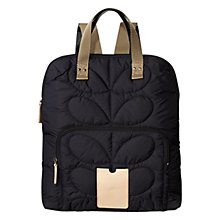 Buy Orla Kiely Etc Quilted Backpack, Indigo Online at johnlewis.com