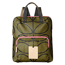 Buy Orla Kiely Etc Backpack Tote Bag, Kelp Online at johnlewis.com