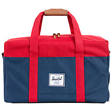 Buy Herschel Supply Co. Keats Holdall, Navy/Red Online at johnlewis.com