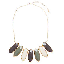 Buy John Lewis Hexagonal Stone Statement Necklace, Grey Online at johnlewis.com