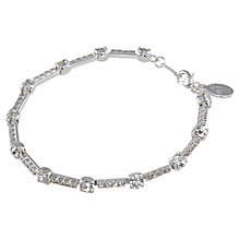 Buy Carolee Crystal Bar Bracelet, Silver Online at johnlewis.com
