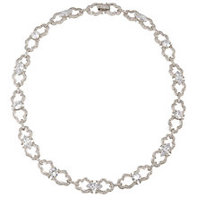 Buy Carolee Open Link Crystal Necklace, Silver Online at johnlewis.com