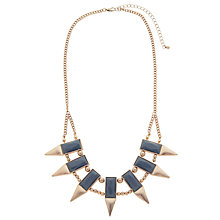 Buy John Lewis Aztec Double Row Necklace, Gold / Blue Online at johnlewis.com