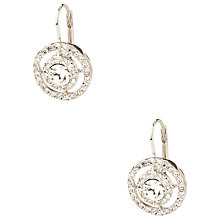 Buy Carolee Round Framed Crystal Drop Earrings, Silver Online at johnlewis.com