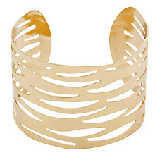 Buy John Lewis Animal Cut-Out Cuff Bracelet, Gold Online at johnlewis.com