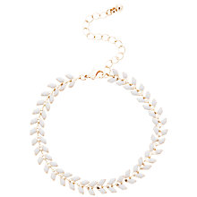 Buy John Lewis Fine Leaf Bracelet, Gold / Grey Online at johnlewis.com