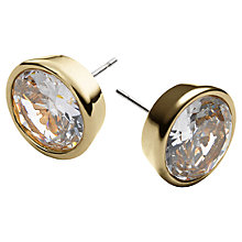 Buy Michael Kors Clear Cubic Zirconia Stud Earrings Online at johnlewis.com