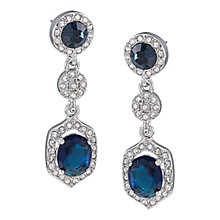 Buy Carolee Simply Blue Double Drop Crystal Pierced Earrings, Blue Online at johnlewis.com