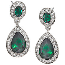 Buy Carolee Simply Emerald Triple Drop Pierced Earrings, Green Online at johnlewis.com