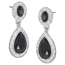 Buy Carolee The Adrianna Crystal Drop Pierced Earrings, Black Online at johnlewis.com
