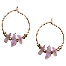 Buy Orelia Chipped Hoop Earrings, Purple Online at johnlewis.com