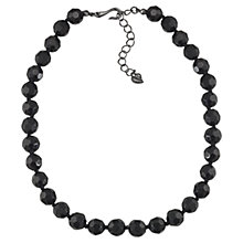 Buy Carolee The Courtney 10mm Jet Crystal Necklace, Black Online at johnlewis.com