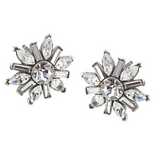 Buy Carolee Mixed Crystal Shape Stud Earrings, Silver Online at johnlewis.com