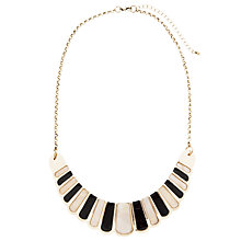 Buy John Lewis Scalloped Fan Necklace,Gold Online at johnlewis.com