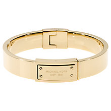 Buy Michael Kors Logo Plaque Hinge Bangle Online at johnlewis.com