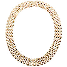 Buy John Lewis Chunky Linked Necklace, Gold Online at johnlewis.com