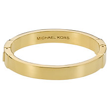Buy Michael Kors Hinge Bangle, Gold Online at johnlewis.com