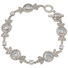Buy Carolee Crystal Floral Bracelet, Silver Online at johnlewis.com