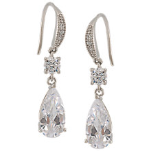 Buy Carolee Crystal Teardrop Hook Earrings, Silver Online at johnlewis.com
