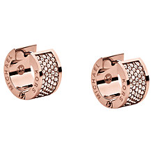 Buy Michael Kors Huggie Pave Crystal Wide Hoop Earrings Online at johnlewis.com