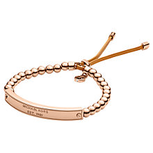 Buy Michael Kors Plaque Stretch Bracelet Online at johnlewis.com
