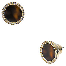 Buy Michael Kors Pave Round Stud Earrings, Tortoiseshell Acetate Online at johnlewis.com