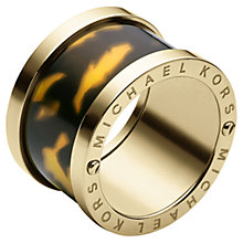 Buy Michael Kors Barrel Ring, Tortoiseshell Acetate Online at johnlewis.com