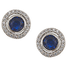 Buy Carolee The Elyse Royal Blue Round Button Pierced Stud Earrings, Sapphire Online at johnlewis.com