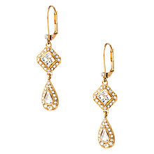 Buy Carolee Golden Dreams Deco Crystal Double Drop Pierced Earrings, Crystal Online at johnlewis.com