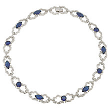 Buy Carolee The Kiera Royal Blue Collar Necklace, Blue Online at johnlewis.com