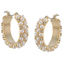 Buy Carolee The Chloe White Pearl Hoop Pierced Earrings, Pearl Online at johnlewis.com