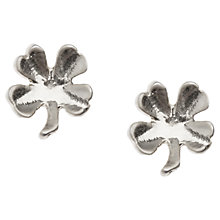 Buy Orelia Clover Mini Stud Earrings Online at johnlewis.com