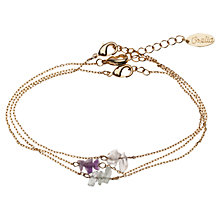 Buy Orelia Triple Chain Slinky Friendship Bracelet Online at johnlewis.com