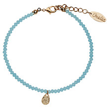 Buy Orelia Tiny Teardrop Beaded Bracelet, Blue Online at johnlewis.com