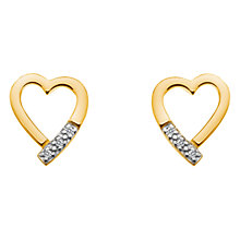 Buy Hot Diamonds Memories Yellow Gold Plated Stud Earrings Online at johnlewis.com