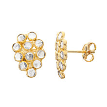 Buy Pomegranate 18ct Gold Plated Crystal Mosaic Pear Shape Stud Earrings, Crystal Online at johnlewis.com