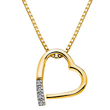 Buy Hot Diamonds Memories Pendant, Yellow Gold Online at johnlewis.com