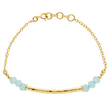 Buy Pomegranate 18ct Gold Plated Labradorite Beaded Bar Bracelet Online at johnlewis.com