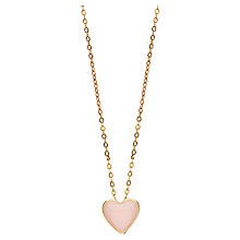 Buy Orelia Mini Enamel Heart Necklace Online at johnlewis.com