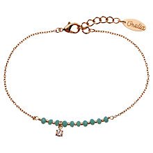 Buy Orelia Pretty Bead and Crystal Drop Bracelet Online at johnlewis.com
