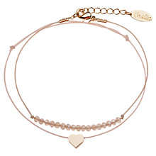 Buy Orelia Sparkle Bead & Heart Bracelet 2 Pack Online at johnlewis.com