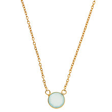 Buy Pomegranate 18ct Gold Plated Round Flat Stone Necklace Online at johnlewis.com