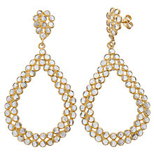 Buy Pomegranate 18ct Gold Plated Crystal Mosaic Pear Shape Drop Earrings, Crystal Online at johnlewis.com